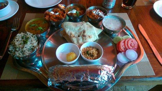 Nirvana House Rooftop Restaurant: Nirvana thali