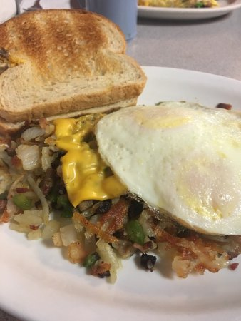 Casey, IL: Hobo skillet - the breakfast of champions.