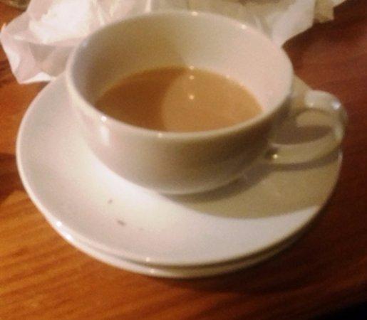 Aston Clinton, UK: Breakfast plate beneath the tea saucer