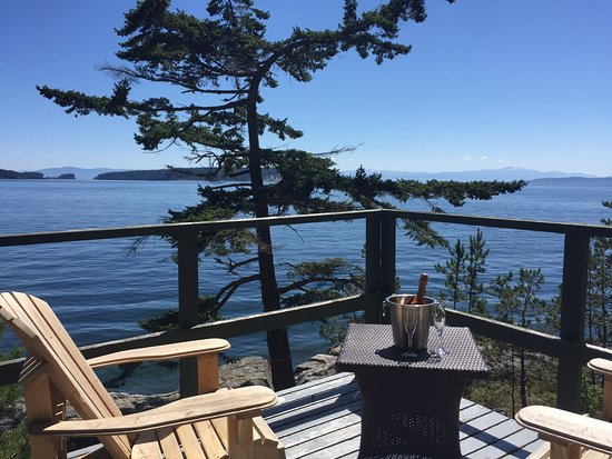 Halfmoon Bay, Canada: Ciew from cabin 11