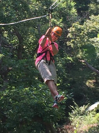 Manhattan, KS: My first experience at zip lining. Loved it! By the way, I am 74 yrs. old.