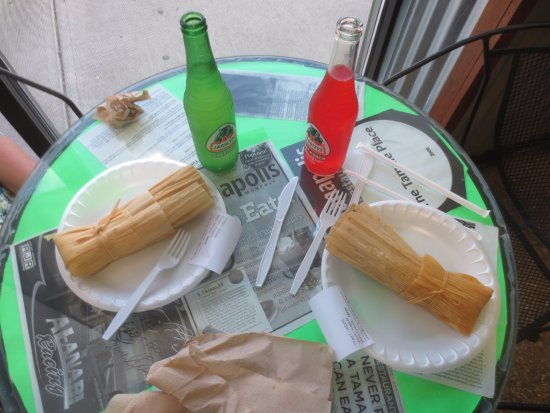 The Tamale Place: Our two meals - need to order more
