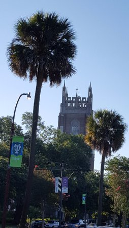 Park View Historic Hotel and Guest House: Tulane University with Loyola tower in the background. 2 min walk.