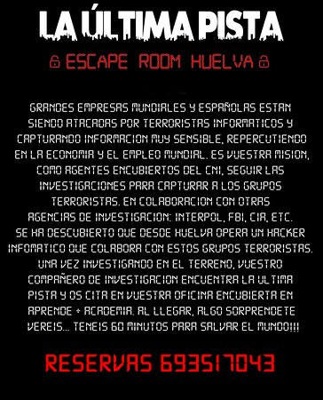 La Ultima Pista Escape Room Huelva