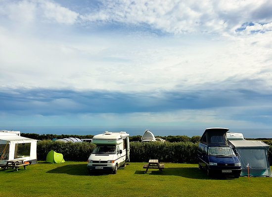 Treen Farm Campsite: View from our pitch