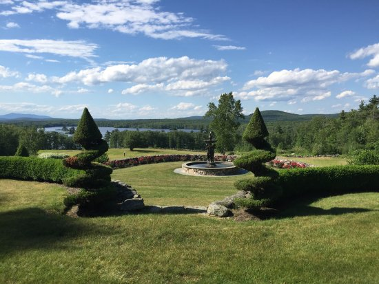 Ashburnham, MA: This is the view from our room, down to the lake. It's also the view from the sitting & dining r