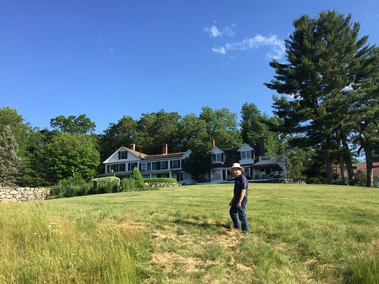Ashburnham, MA: Walking back from the lake to the house. View of back of the house.