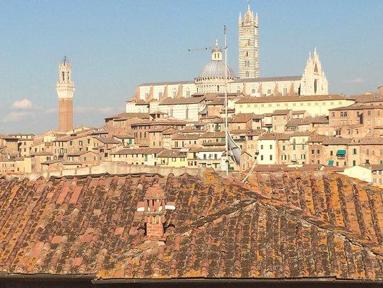 Hotel Villa Elda: Η θέα προς το Duomo της Σιένα από το δωμάτιο 23 στη Villa Elda