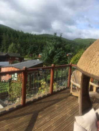 Glendevon, UK: Luxury 3 bedroom Lodge .enclosed hottub available (extra daily charge applies)