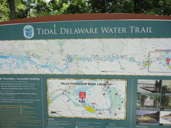 Morrisville, Pensilvania: Map of Delaware River Water Trail at Quaker Penn Park