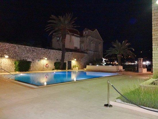 Swimming Pool At Night Picture Of Hotel Lapad Dubrovnik Tripadvisor