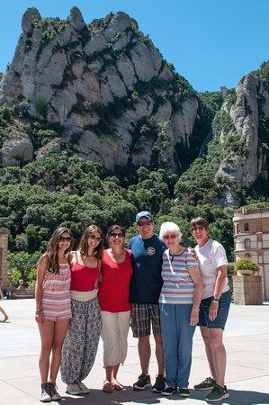 Barcelona Experience: Monserrat family photo taken by Gaston
