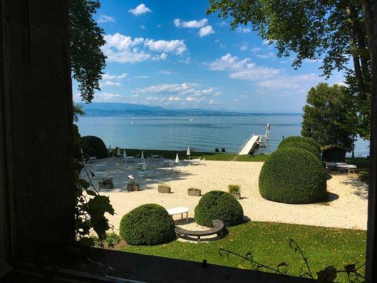 Chateau de Coudree: vue de la chambre (et même vue dans la salle de bain, top!)