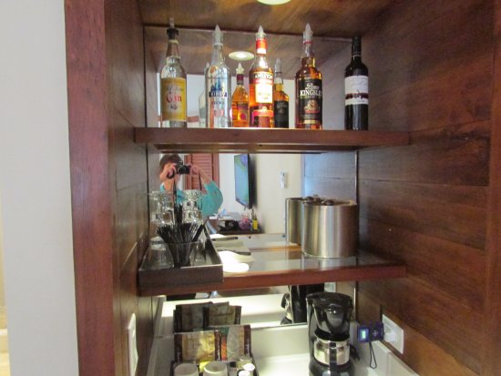 mini bar picture of sandals negril beach resort spa negril tripadvisor. Black Bedroom Furniture Sets. Home Design Ideas