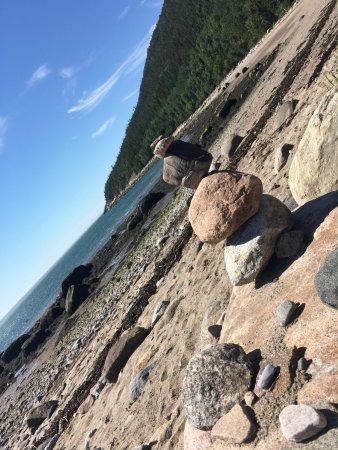 Saint-Simeon, Canadá: la plage de l'anse au sable