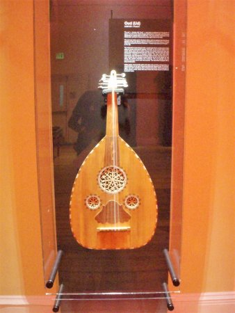 Pittsfield, MA: Guitar in display case