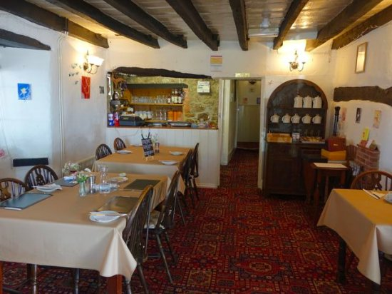 Chagford, UK: Interior of Whiddons Bistro