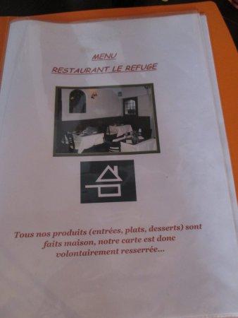 Carte Restaurant Le Refuge Moret Sur Loing