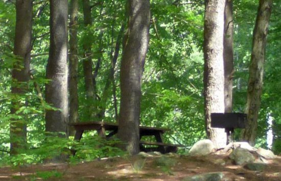 Gardner, MA: several secluded places with babbe cue and picnic tables
