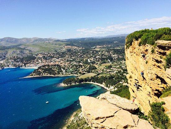 Provence, Frankrijk: Route des crêtes (vue vers Cassis)