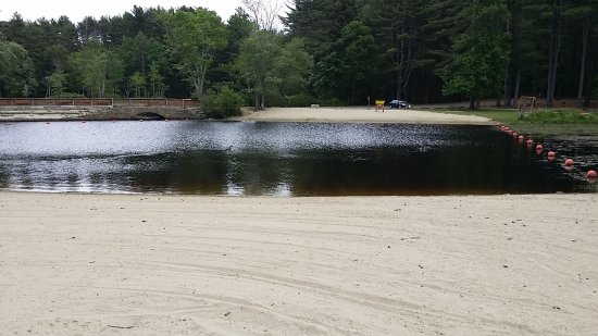 Uxbridge, MA: small but well maintained beach by the pond