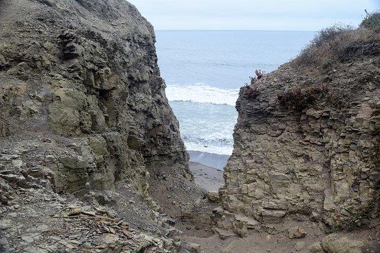 Bolinas, Kaliforniya: beginning of the trail that led down to the beach