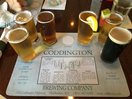 Coddington Brewing CO : A flight of 6 beers (the 7th had been kicked and wasn't included).