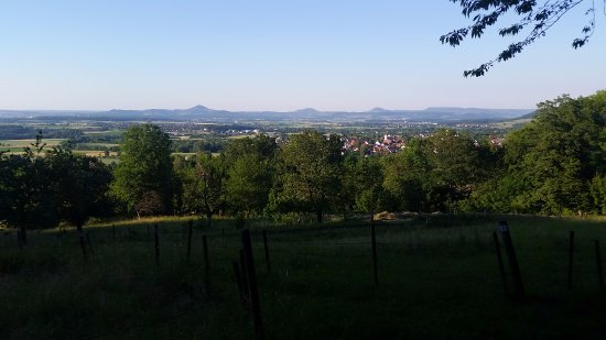 Bad Boll, Germany: View from hiking trails behind the hotel
