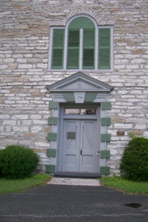 Palatine Bridge, NY: Stone Arabia Church Entrance