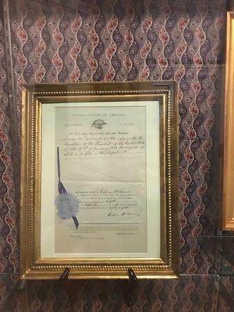 Seward House Museum: Important document
