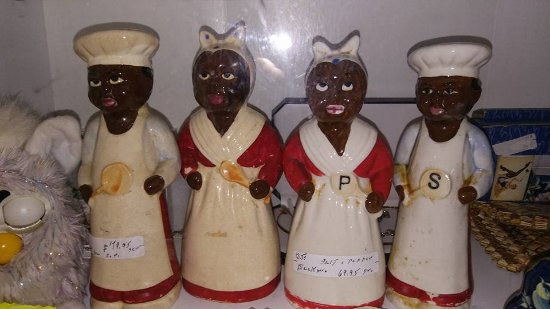 Maryville, TN: Black Memorabilia -salt pepper shakers believe these are 6 and 8 inches tall