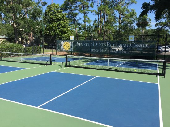 Palmetto Dunes Tennis & Pickleball Center: The courts are beautiful with easily differentiated kitchens.