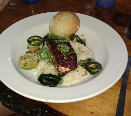 Sanbornville, NH: Grilled blackened salmon