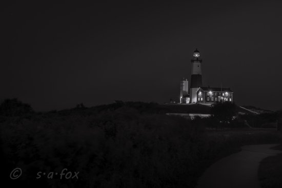 Camp Hero State Park: A long exposure of the lighthouse at night; next time I'm going for star trails! :-)