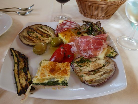 La Ruota : Grilled vegetables with bonus parts