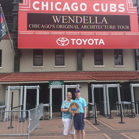 Tastebud Tours - Chicago Food Tours: Photo stop in front of the Friendly Confines!