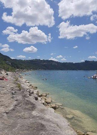 Lago Vista, TX: view of the rocks/beach at Hippie Hollow