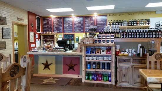 Goshen, IN: Counter and menu.