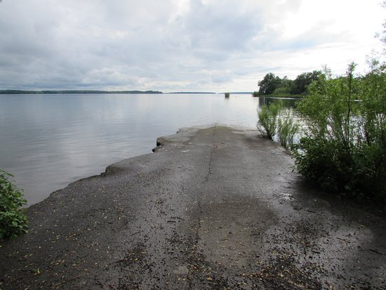 Long Sault, Canada: original village road lost under water