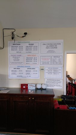 Millstone, NJ: Price List on Wall...