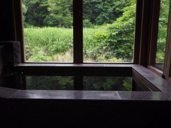Nishiwaga-machi, Japão: 部屋の半露天風呂