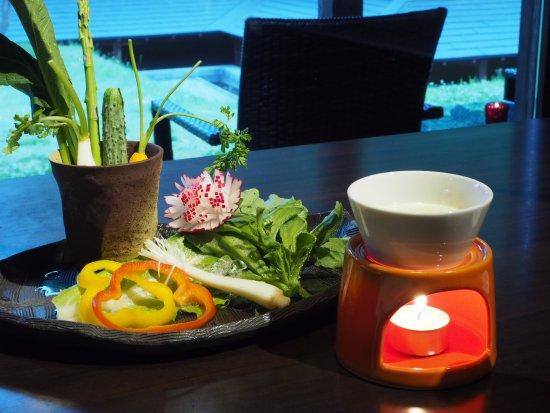 Nishiwaga-machi, Ιαπωνία: 夕食のバーニャカウダ