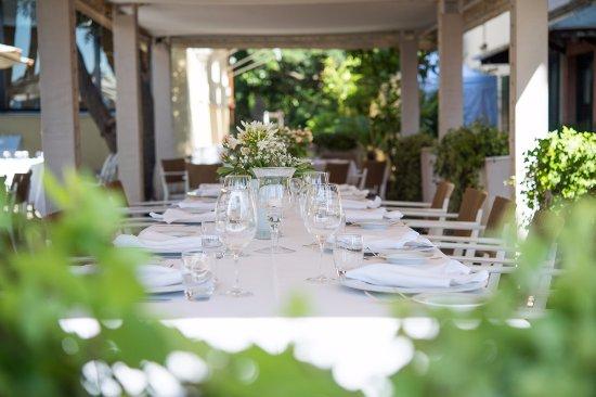 Hotel Villa Mabapa: garden restaurant