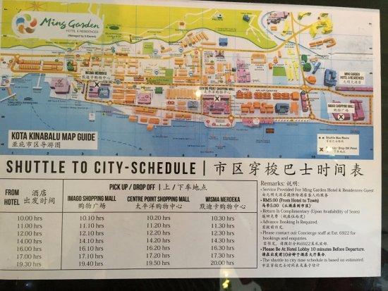 Ming Garden Hotel U0026 Residences: Shuttle Bus Schedule