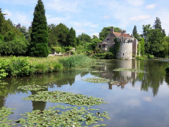 Lamberhurst, UK: looking across the moat towards Scotney castle