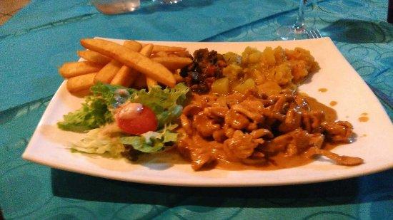 Bourg-Murat, Reunión: Emincés de poulet au miel et citron vert