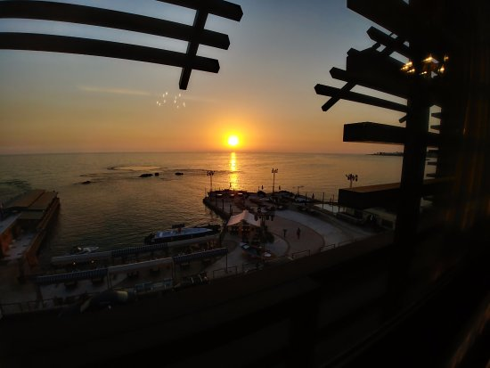 Byblos Sur Mer: The sunset view from the executive suit, room 301