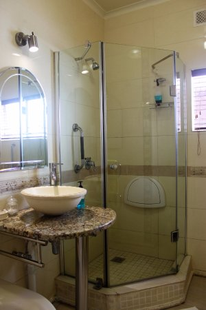 Bath and Shower of Disability room - Picture of Sleepers Villa ...