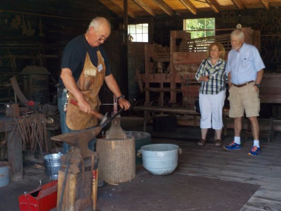 Albion, NY: The blacksmith doing his work.