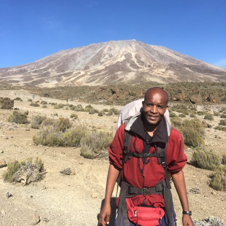 Acadia Mountain Guides Climbing School : Pictures from a recent ascent of Kilimanjaro (19343') - The roof of Africa. Jon Tierney, owner A